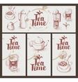 utensils for drinking tea vector image