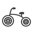 tricycle line icon bike and toy vector image