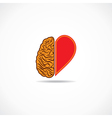 think from heart and brain concept vector image
