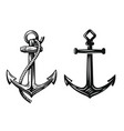 black nautical anchor vector image vector image