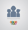 People Icon - Symbol vector image vector image