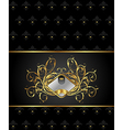 gold floral packing with heraldic element - vector image vector image