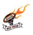 Best Catch Badge Hand Draw vector image