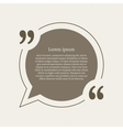 Quotation mark speech bubble vector image