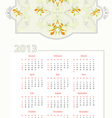 calendar flow2013 vector image