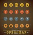 Retro Gps Icons vector image