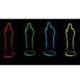 condoms black vector image