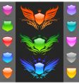 set of glossy heraldic shields vector image vector image