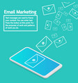 business concept smartphone sending email vector image