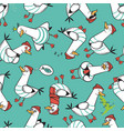 cartoon seagull seamless pattern design vector image
