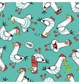 cartoon seagull seamless pattern design vector image