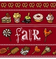 Fair sketch border vector image