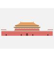 Forbidden City Gate of Heavenly Peace Tiananmen vector image