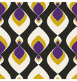 Geometric abstract seamless pattern on black vector image
