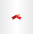house roof chimney icon symbol vector image