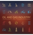 Oil And Gas Industry Line Icons vector image