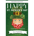 Poster for Happy St Patricks Day Party vector image