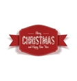 Realistic Christmas and New Year red Card vector image