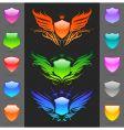 set of glossy heraldic shields vector image