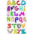 shiny color creative font vector image