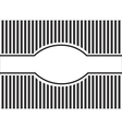 Striped background black and white vector image
