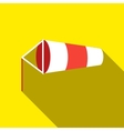 Windsock inflated by wind icon flat style vector image
