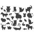 set of cartoon animal pet and wild beasts vector image