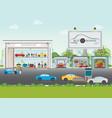 set of car service station vector image