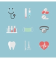 Health care pictograms for hospital website vector image
