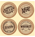 set of template wooden barrels for alcoholic bever vector image