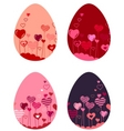 set of different Easter eggs vector image vector image