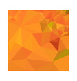 Pumpkin Orange Abstract Low Polygon Background vector image