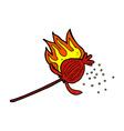 comic cartoon poppy flower vector image