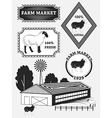 Set of premium lamb labels mutton badges and vector image