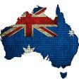 Australian map grunge mosaic vector image