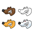 bear mascot head vector image