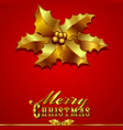 Christmas Card with Holly vector image