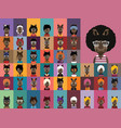 collection of rhino avatars vector image