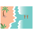 Drowning person Design vector image