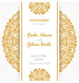 luxury wedding invitation with mandala vector image
