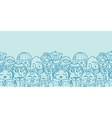 People in a crowd horizontal seamless pattern vector image