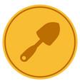 scoop shovel gold coin vector image