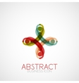 Symmetric abstract geometric shape vector image