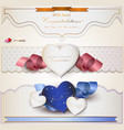 Wedding Congratulations Card vector image