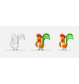 Cock New Year 2017 Year of the Rooster Rooster in vector image
