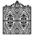 Forged iron gate vector image