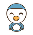 penguin baby animal funny image vector image