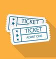 pair of vintage cinema tickets vector image