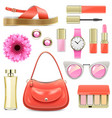 fashion accessories set 7 vector image