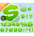 Sticker or label style alphabet vector image